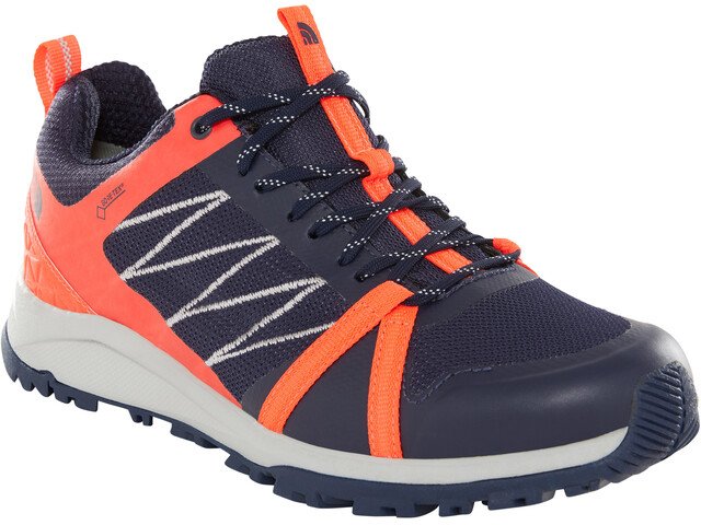 The North Face Litewave Fastpack II GTX Shoes Dam peacoat navy/fiery coral